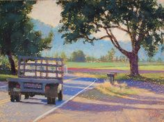 Sauvie Island Farm Truck by Michael Fisher Pastel ~ 18 x 24