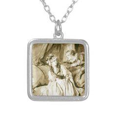 The Letter (Spanish Conversation) by Fragonard Custom Necklace