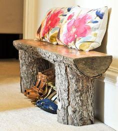 15 Fantastic DIY Home And Garden Wood Log Decorations
