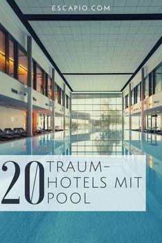 Entdecke die schönsten Hotels mit Pool - jetzt auf ESCAPIO! #pool #hotels #reisen #urlaub #wellness Bio Sauna, Riad, Beach Please, Indoor Swimming Pools, Daydream, Beautiful Images, Cinema, Short Breaks, Steam Bath