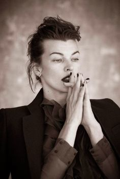 Milla Jovovich as Katherine Hepburn for L'Express Style October 2013