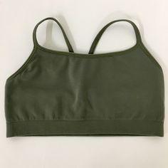 Gapbody sports bra Seamless racerback sports bra. Olive color. Never worn. GAP Intimates & Sleepwear Bras