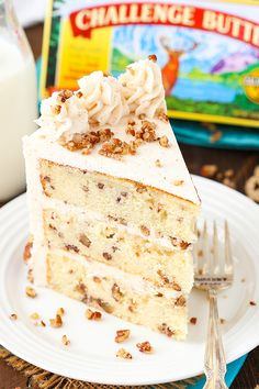 Browned Butter Pecan Layer Cake
