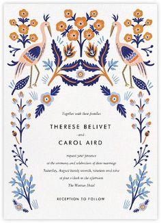 Heron Heralds (Invitation) by Rifle Paper Co for Paperless Post