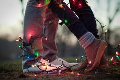 15 Reasons Why Winter Engagement Photos Are The Best Winter is probably the only time you can actually find dollar store decor that will work as photo props. Work Christmas lights into your engagement shoot for a fun festive image. Photo by A Sunshine Winter Engagement Photos, Engagement Shoots, Engagement Photography, Country Engagement, Beach Engagement, Engagement Photo Props, Winter Pictures, Couple Pictures, Wedding Pictures