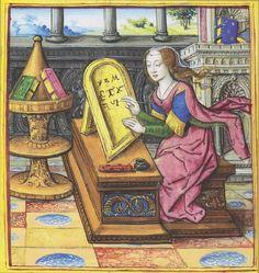 Jean Pichore Paris, vers 1504-1506 Antoine Dufour, Les Vies des femmes célèbres Parchemin Nantes, musée Dobrée Photo : musée Dobrée/Chantal Hémon