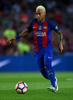 Neymar Jr. of FC Barcelona runs with the ball during the La Liga match between…