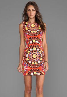 Mara Hoffman Cutout Mini Dress in Suzani Poppy from REVOLVEclothing.com