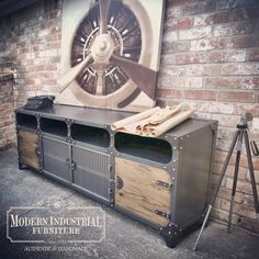 Like These Industrial DecorDesigns? Visit Us For More Industrial Furniture Ideas Loft Furniture, Steel Furniture, Retro Furniture, Farmhouse Furniture, Colorful Furniture, Cheap Furniture, Furniture Design, Furniture Stores, Furniture Movers