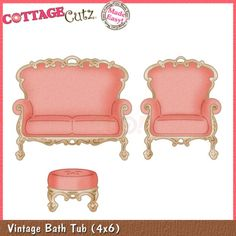 CottageCutz Die - Vintage Loveseat & Chair