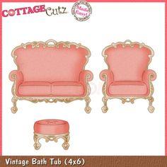 CottageCutz Die - Vintage Loveseat & Chair