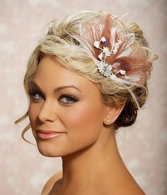 Pink Berry Fascinator Headpiece Bridal Head Piece Peacock Feather Wedding Hair Accessories Wedding Hair Clip - Made to Order - CHANTAL on Etsy, $73.88 AUD