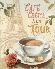 Cafe in Paris - Lámina