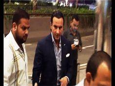 Saif Ali Khan at Mumbai Airport leaving for IIFA Awards 2014.