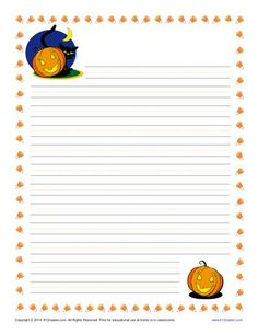 Halloween Writing Paper Printable Halloween Lined Paper for Kids Halloween Writing Prompts, Writing Prompts For Kids, Kids Writing, Free Printable Stationery, Printable Paper, Lined Paper For Kids, Handwriting Practice Paper, Lined Writing Paper, Stationery Paper
