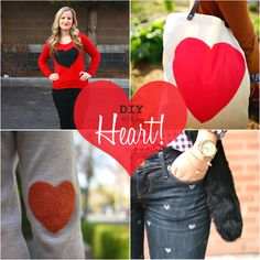 <3 this -- total must-wear for Valentine's Day. Omiyage Blogs: DIY Fashionable Hearts