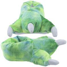 JURASSIC PARK WORLD Plush Sock-Top Dinosaur Slippers Size 7-8 9-10 or 11-12 NWT