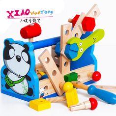 儿童益智木质男孩拆装玩具宝宝组装螺母拼装玩具2-3-4岁拼拆早教