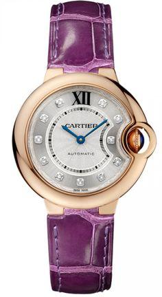 WE902040 Ballon Bleu de Cartier Automatic 33 mm - швейцарские женские часы наручные, золотые с бриллиантами