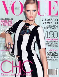 Toni Garrn covers Vogue Mexico, February 2013. Lensed by Nagi Sakai.