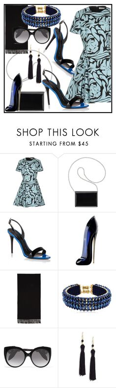 """""""black and blue!"""" by www-mbalenhlemm ❤ liked on Polyvore featuring Christian Dior, Nine West, Giuseppe Zanotti, Carolina Herrera, Acne Studios, Only Child, Alexander McQueen and Kenneth Jay Lane"""