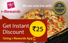 r-Rewards is now live at #PepperJack restaurant in Shaikpet. Use r-Rewards app and get Rs. 25 discount instantly on your bill.  Download app here: http://www.r-rewards.com/  #PepperJack #rRewardsApp #GetDiscount