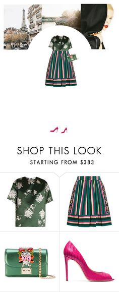 """""""Untitled #210"""" by soledestate ❤ liked on Polyvore featuring Rochas, Etro, GEDEBE and Casadei"""