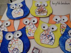 Owl Crafts, Preschool Crafts, Crafts For Kids, Owl Classroom, Owl Ornament, Bird Theme, Class Decoration, Painted Paper, Famous Artists
