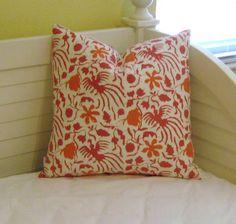 Quadrille China Seas Seya in Azalea Pink Floral Pillow Design - http://www.sewsusiedesigns.com/product/quadrille-china-seas-seya-in-azalea-pink-floral-pillow-design/