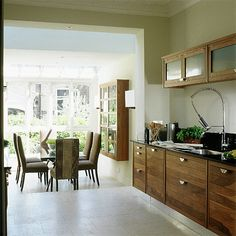 loving this open kitchen and dining room