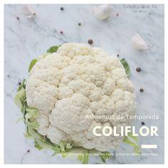 La coliflor un gran alimento, con muy buenos nutrientes y bajo aporte calórico Cauliflower, Vegetables, Food, Eating Well, Bass, Be Nice, Food Items, Cauliflowers, Essen