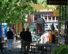 Northwest Portland / Nob Hill: Shoppers stroll along Northwest 23rd Avenue. // Victorians, boutiques and restaurants line the streets of this neighborhood that's ideal for leisurely strolls, while the adjoining Forest Park was made for hikes.
