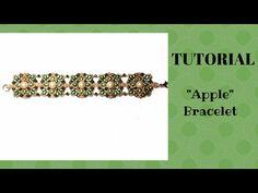 "Tutorial: Square bracelet and earrings (Silky beads) / Серьги и браслет ""Кубик в кубе"" мастер-класс - YouTube"