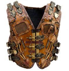 Gilet fait, 0 mm - 3, cuir véritable épais de 5mm dans le style steampunk. Nous utilisons seulement de haute qualité, meubles lourds.  TAILLE : Toutes les tailles sont au format XX-YY-ZZ : Hauteur XX sur le dos (ligne verticale rouge sur la photo) Largeur YY au-dessus du dos (ligne horizontale rouge sur la photo) Tour de taille ZZ avec toutes les ceintures attachées ; Aussi s'il vous plaît laissez-moi savoir votre taille.  M: 45 cm - 35 cm-90 cm ; L: 47 cm - 37 cm-95 cm ; XL: 49 cm - 39…