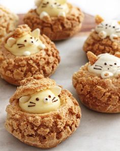 kitty and mouse choux!