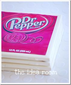 upcycled soda can coasters - want to try with paint, paper, and modge podge - is that stuff waterproof?
