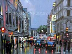 PETE RUMNEY FINE ART ORIGINAL ACRYLIC OIL PAINTING LONDON TROCADERO SIGNED NEW HAND PAINTED BY BRITISH ARTIST IN THE UK - ORIGINAL ART