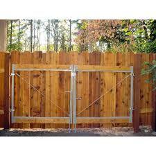 Resultado de imagen para black metal wood fence and gate
