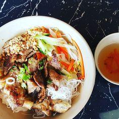 Mmmmmmm Vietnamese pork and spring role. #cravings #vietnamesefood