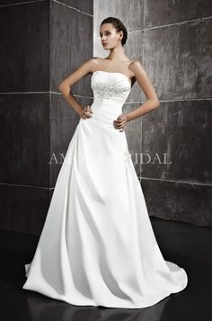 Buy High Quality Dresses from Dress Factory Wedding Dresses For Sale, White Wedding Dresses, Bridal Gowns, One Shoulder Wedding Dress, Satin, Simple, Flowers, Fashion, Bride Gowns