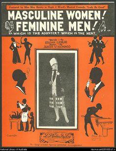"""""""Mujeres masculinas, hombres femeninos"""" Fox-trot, 1926."""