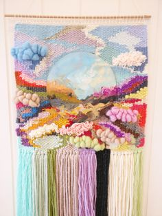 Beyond weaving, woven wall hanging, boho wall tapestry, wall art by MarinkaMakes on Etsy https://www.etsy.com/listing/552523613/beyond-weaving-woven-wall-hanging-boho