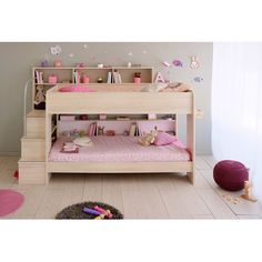 Parisot Bibop Bunk Beds are available from JellyBeanGroup, the Bibop Bunk Beds provide great storage solutions to your kids bedroom. Cleverly designed storage along the side and bottom make this design very unique by maximizes on space. Girls Bunk Beds, Cool Bunk Beds, Twin Bunk Beds, Kid Beds, Loft Beds, Bunk Beds With Drawers, Bunk Bed With Trundle, Girl Room, Girls Bedroom