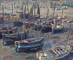 Hendrik Jan Wolter (Amsterdam 1873-1952) | In the harbour of Polperro, England | Paintings, oil | Christie's