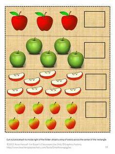 An Apple a Day File Folder Games-P-K, K, Special Education,Autism