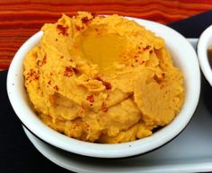 Sweet Potato Hummus--an awesome superfood combination that is an awesome holiday appetizer!