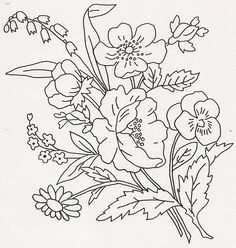 Grand Sewing Embroidery Designs At Home Ideas. Beauteous Finished Sewing Embroidery Designs At Home Ideas. Embroidery Designs, Embroidery Transfers, Hand Embroidery Patterns, Vintage Embroidery, Embroidery Stitches, Painting Patterns, Fabric Painting, Coloring Books, Coloring Pages