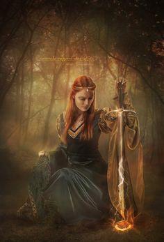 "Avalon Camelot King Arthur:  ""#Gwenhwyfar,"" by ~Le-Regard-des-Elfes, at deviantART."