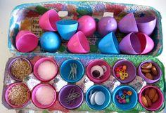 Easter Outdoor Games For Kids Plastic Eggs 30 New Ideas Easter Outdoor Games, Outdoor Games For Kids, Easter Activities, Craft Activities For Kids, Crafts For Kids, Activity Ideas, Preschool Crafts, Diy Homemade Toys, Egg Shakers