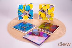 Clinton's Craft Corner: Ink Dye Coasters and Paint Chip Calendar #TheChew